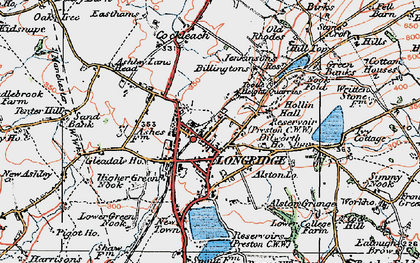 Old map of Alston Lodge in 1924
