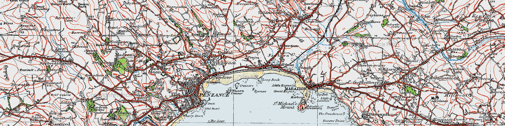 Old map of Tolver in 1919