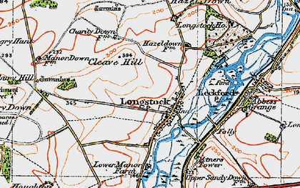 Old map of Atners Towers in 1919