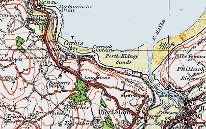 Old map of Longstone in 1919