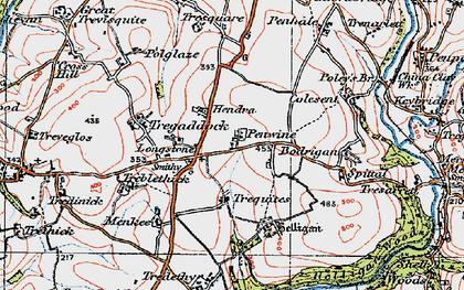 Old map of Longstone in 1919