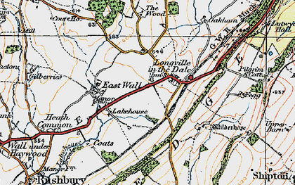 Old map of Wilderhope Manor in 1921
