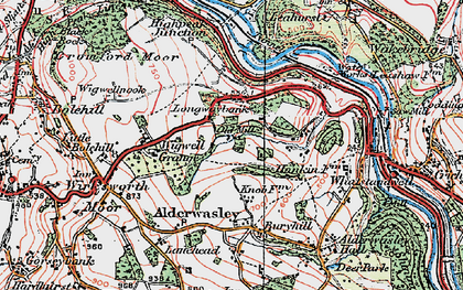 Old map of Longway Bank in 1923