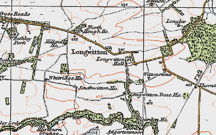 Old map of Whitridge in 1925