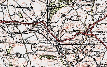 Old map of Looe Mills in 1919