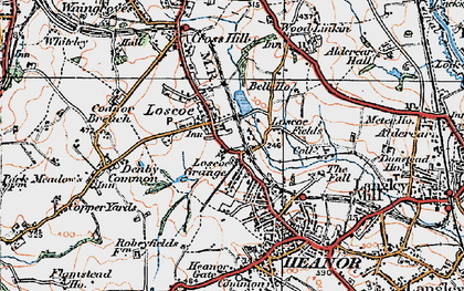 Old map of Loscoe in 1921