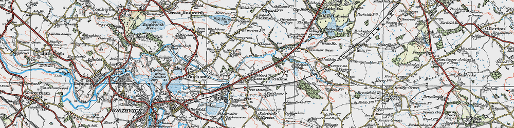Old map of Wincham Brook in 1923