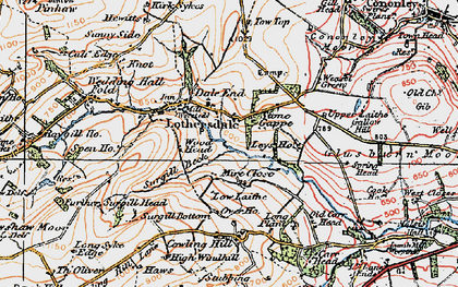 Old map of Leys Ho in 1925