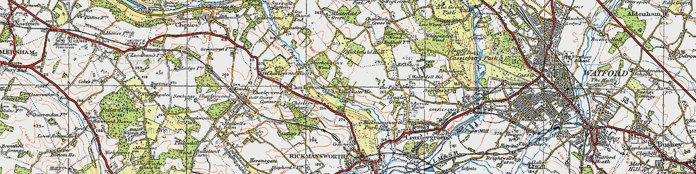 Old map of Thurlwood Ho in 1920