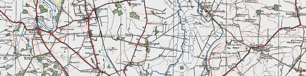 Old map of Ling Hurst Lakes in 1923