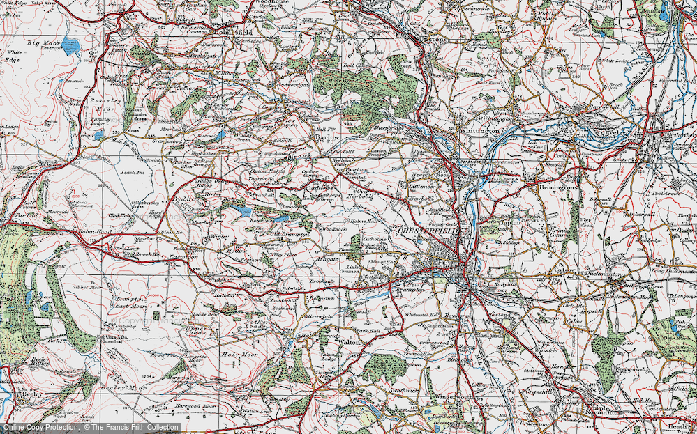 Old Map of Loundsley Green, 1923 in 1923
