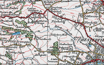Old map of Loundsley Green in 1923