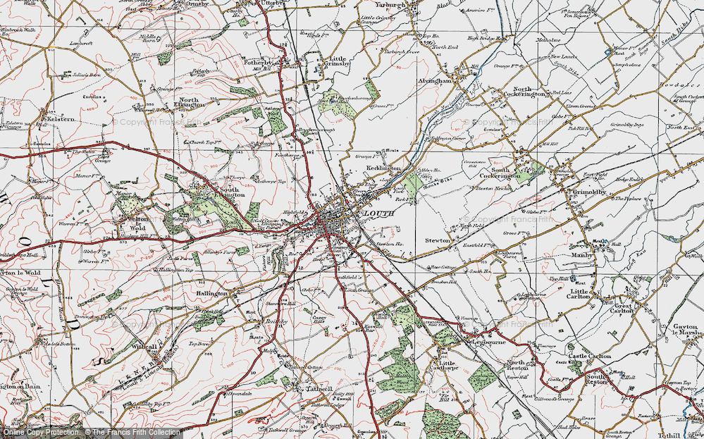 Old Map of Louth, 1923 in 1923