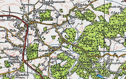 Old map of Langley Wood in 1919