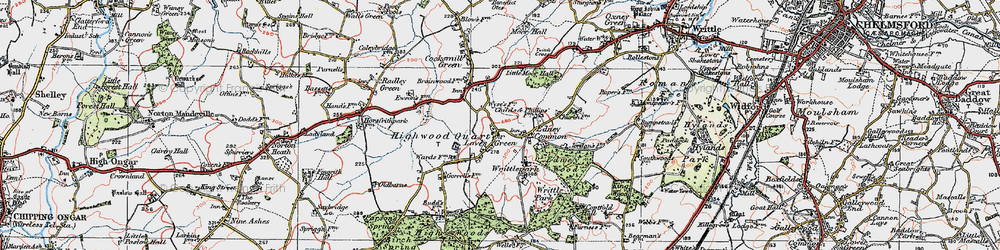 Old map of Wyse's Cottage in 1920