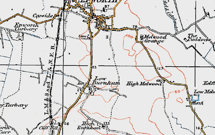 Old map of Low Burnham in 1923