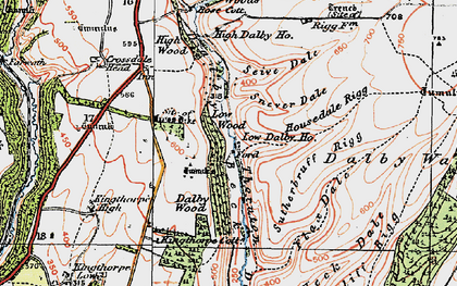 Old map of Low Dalby in 1925