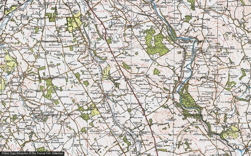 Old Map of Low Hesket, 1925 in 1925