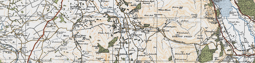Old map of Whinfell Hall in 1925