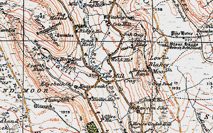 Old map of Wold Hos in 1925