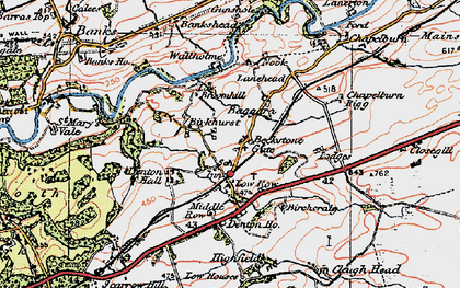 Old map of Bankshead in 1925