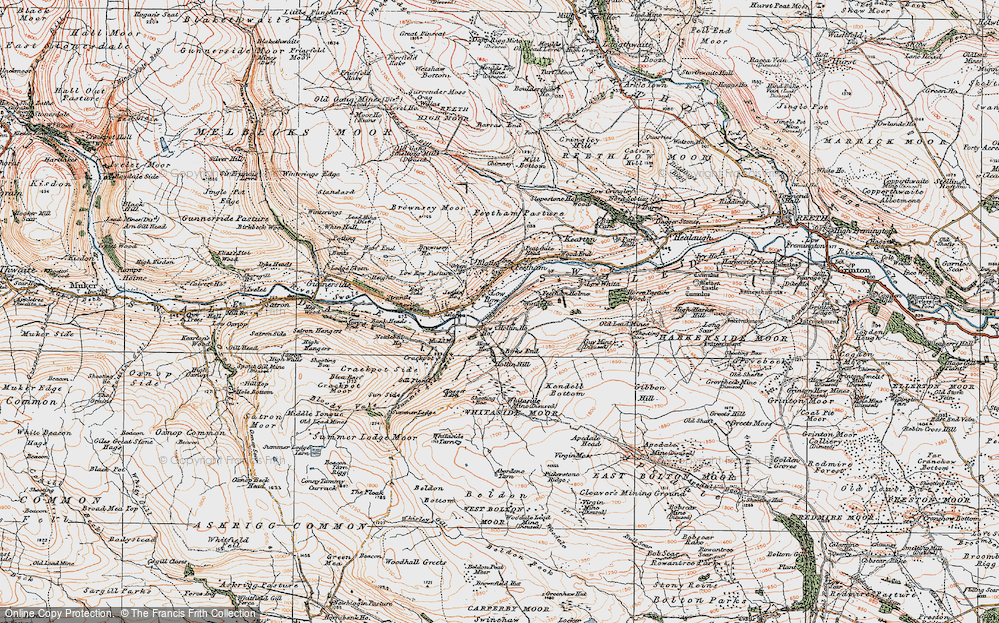 Old Map of Low Row, 1925 in 1925