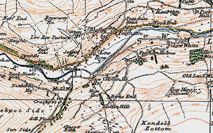 Old map of Low Row in 1925