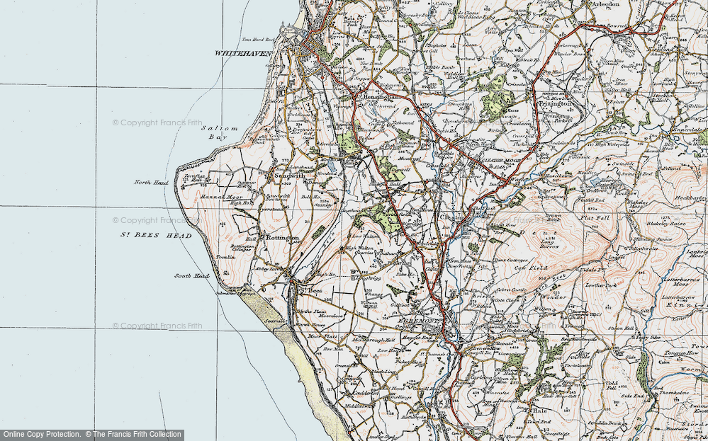 Old Map of Historic Map covering Woodend in 1925