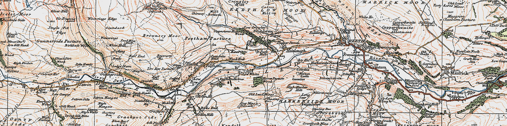 Old map of Wood End in 1925