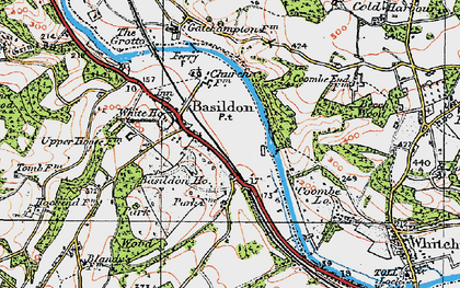 Old map of Lower Basildon in 1919