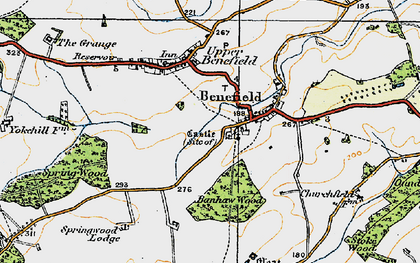 Old map of Banhaw Wood in 1920