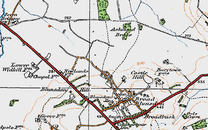 Old map of Ashmead Brake in 1919