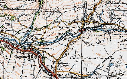 Old map of Lower Brynamman in 1923