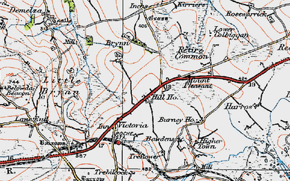 Old map of Lower Brynn in 1919