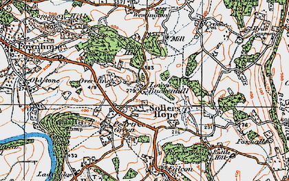 Old map of Alford's Mill in 1919