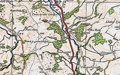 Old map of Alltybrain in 1923