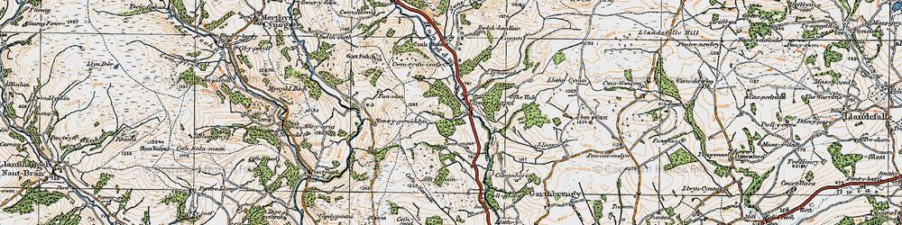 Old map of Alltybrain in 1923