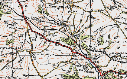 Old map of Lower Clicker in 1919
