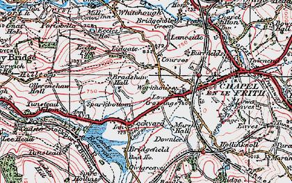 Old map of Lower Crossings in 1923