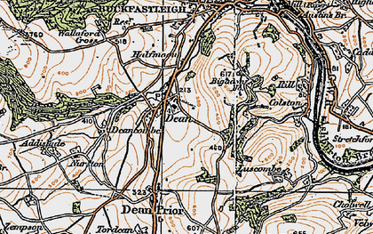 Old map of Lower Dean in 1919