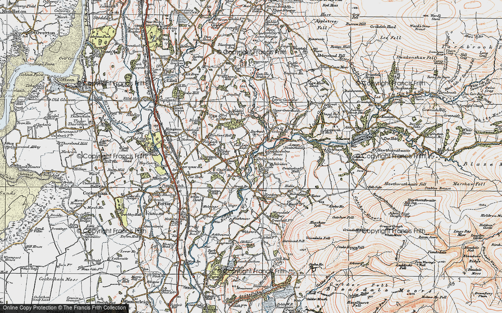 Old Map of Historic Map covering Bantons in 1924