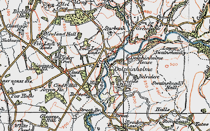 Old map of Bantons in 1924