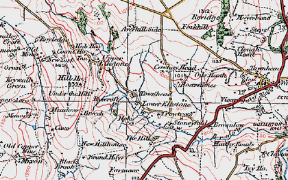 Old map of Averhill Side in 1923