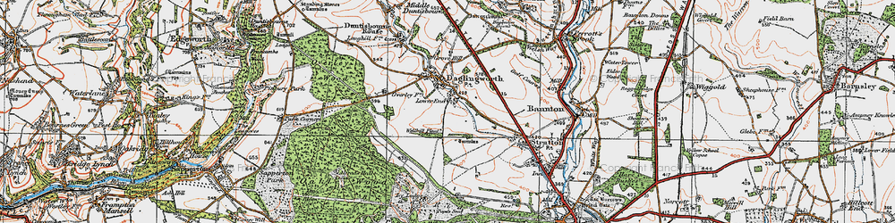 Old map of Alfred's Hall in 1919
