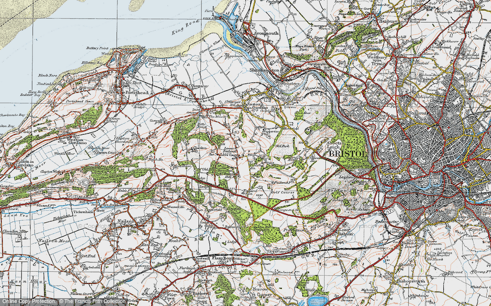 Old Map of Lower Failand, 1919 in 1919