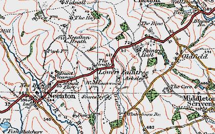 Old map of Winterburn Brook in 1921