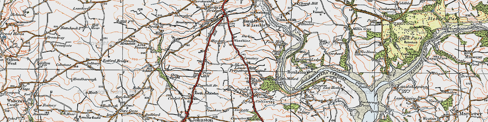 Old map of Woodbine in 1922