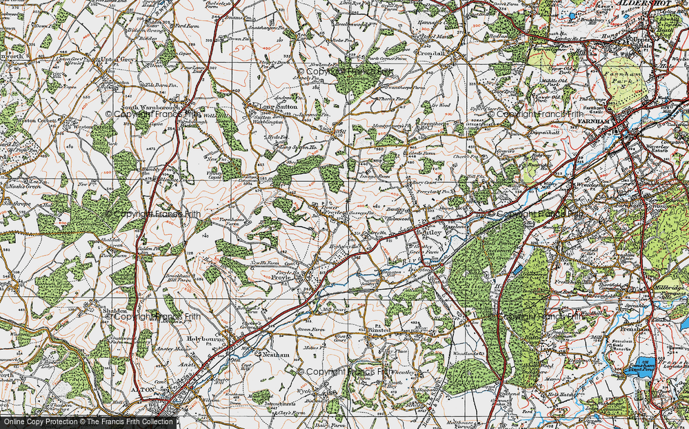 Old Map of Lower Froyle, 1919 in 1919