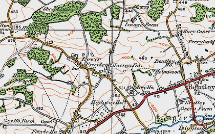 Old map of Lower Froyle in 1919