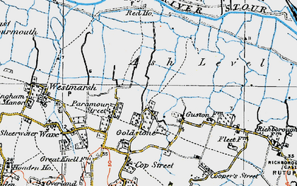 Old map of Ash Level in 1920
